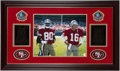 Autographs:Photos, Jerry Rice and Joe Montana Signed Framed Display. . ...