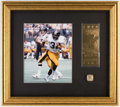 Football Collectibles:Photos, Pittsburgh Steelers Super Bowl XIV Display.. ...