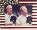 Autographs:Photos, Joe DiMaggio & Mickey Mantle Signed Oversized Photograph.. ...