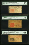 Colonial Notes:New Jersey, Trio of New Jersey March 25, 1776 Colonial Currency.. ... (Total: 3)