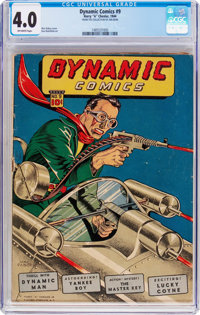 Dynamic Comics #9 (Chesler, 1944) CGC VG 4.0 Off-white pages