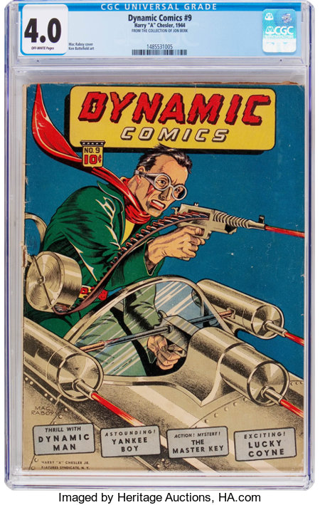 Dynamic Comics #9 (Chesler, 1944) CGC VG 4.0 Off-white pages....