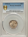 1931-S 10C MS64 Full Bands PCGS Secure. PCGS Population: (72/123 and 0/2+). NGC Census: (14/20 and 0/0+). CDN: $800 Whsl...
