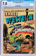 Golden Age (1938-1955):Science Fiction, Space Western #42 (Charlton, 1953) CGC FN/VF 7.0 Cream to off-white pages....