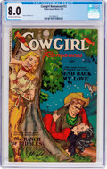 Golden Age (1938-1955):Romance, Cowgirl Romances #12 (Fiction House, 1953) CGC VF 8.0 Off-white towhite pages....