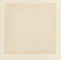 Fine Art - Work on Paper:Drawing, Agnes Martin (1912-2004). Untitled, 1977. Watercolor,pencil, and ink on paper. 12 x 12 inches (30.5 x 30.5 cm)(sheet)...