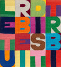 Other, Alighiero Boetti (1940-1994). Le turbe i disturbi, circa 1990. Embroidery on canvas. 11-1/8 x 10 inches (28.3 x 25.4 cm)...