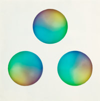 Judy Chicago (b. 1939) Untitled (Three circles) Sprayed acrylic lacquer on acrylic 15 x 15 inches