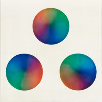 Judy Chicago (b. 1939) Untitled (Three circles) Sprayed acrylic lacquer on acrylic 27 x 27 inches