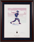 Baseball Collectibles:Others, 1996 Ted Williams Signed Carlo Beninati Lithograph. ...