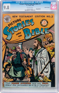 Picture Stories from the Bible NT 3 Gaines File Pedigree 10/12 (EC, 1946) CGC NM/MT 9.8 Off-white pages