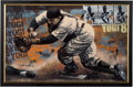Baseball Collectibles:Others, Circa 2000 Yogi Berra Signed Giclee by Stephen Holland....