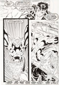 Original Comic Art:Panel Pages, Rob Liefeld and Hillary Barta New Mutants #91 Page 3Original Art (Marvel, 1990)....