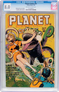 Golden Age (1938-1955):Science Fiction, Planet Comics #42 (Fiction House, 1946) CGC VF 8.0 Off-white towhite pages....