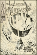Original Comic Art:Covers, John Romita Sr. Amazing Spider-Man #61 Cover Original Art (Marvel, 1968)....