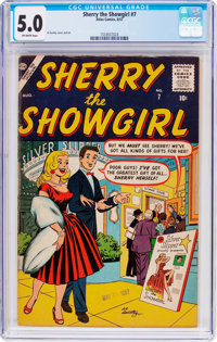 Sherry the Showgirl #7 (Atlas, 1957) CGC VG/FN 5.0 Off-white pages