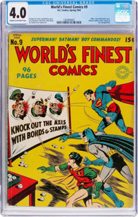 World's Finest Comics #9 (DC, 1943) CGC VG 4.0 Cream to off-white pages