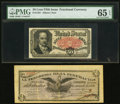 Fractional Currency:Fifth Issue, Fr. 1381 50¢ Fifth Issue PMG Gem Uncirculated 65 EPQ.. MexicoTesoreria de la Federacion 50 Centavos 27.12.1914 Pick S64...(Total: 2 notes)