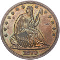 Patterns, 1870 50C Half Dollar, Judd-993, Pollock-1123, R.8, PR63 Brown PCGS....