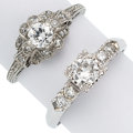 Estate Jewelry:Rings, Diamond, Platinum, Gold Rings. ... (Total: 2 Items)