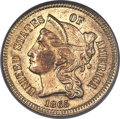 Patterns, 1865 3C Three Cent Nickel, Judd-414, Pollock-485, High R.7, PR63 PCGS....