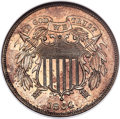 Patterns, 1864 2C Two Cents, Judd-371, Pollock-440, Low R.6, PR62 ANACS....