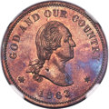 1863 2C Two Cents, Judd-305, Pollock-370, R.4, PR64 Red and Brown NGC....(PCGS# 70460)