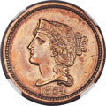 1854 P1C One Cent, Judd-162, Pollock-188, R.8 -- Polished -- NGC Details. Proof....(PCGS# 11671)