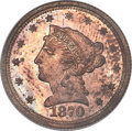 1870 $2 1/2 Quarter Eagle, Judd-1026, Pollock-1161, R.7, PR63 Red and Brown PCGS....(PCGS# 71274)
