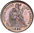 1865 10C Ten Cents, Judd-421, Pollock-493, High R.7 -- Damaged -- ANACS. Net PR50....(PCGS# 60604)