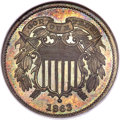 1863 2C Two Cents, Judd-312A, Pollock-377, Low R.6, PR64 Brown NGC....(PCGS# 60468)