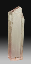 Minerals:Cabinet Specimens, Kunzite. Afghanistan. 7.48 x 1.78 x 1.39 inches (19.00 x4.51 x 3.52 cm). ...
