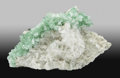 Minerals:Cabinet Specimens, Apophyllite with Calcite. Maharashtra. India. 8.66x 4.72 x 5.75 inches (22.00 x 12.00 x 14.60 cm). ...