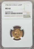 Chile, Chile: Republic gold 20 Pesos 1961-SO MS66 NGC,...