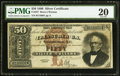 Large Size:Silver Certificates, Fr. 327 $50 1880 Silver Certificate PMG Very Fine 20.. ...
