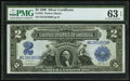 Large Size:Silver Certificates, Fr. 255 $2 1899 Silver Certificate PMG Choice Uncirculated 63 EPQ.....