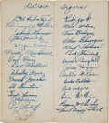 Baseball Collectibles:Others, 1941 Babe Ruth, Ty Cobb & Tris Speaker Signed Brochure.. ...