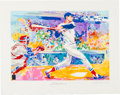 """Baseball Collectibles:Others, 1991 """"Ted Williams - The Splendid Splinter"""" LeRoy Neiman Serigraph - Signed by Both. . ..."""