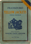 Football Collectibles:Programs, 1925 Chicago Bears with Red Grange vs. Frankford Yellow Jackets Program. ...