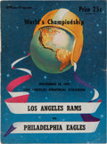Football Collectibles:Programs, 1949 NFL Championship Game Program - Eagles Over the Rams....