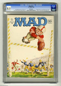 Magazines:Mad, Mad #117 (EC, 1968) CGC VF+ 8.5 White pages. Charlie Brown spoof.Letter from (and photo of) William Shatner and Leonard Nim...
