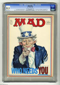 """Magazines:Mad, Mad #126 (EC, 1969) CGC VF+ 8.5 Off-white to white pages. Uncle Samcover by Norm Mingo. """"Family affair"""" TV satire. """"Peanuts..."""