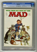 "Magazines:Mad, Mad #184 Gaines File Copy (EC, 1976) CGC NM- 9.2 Off-white to whitepages. ""One Flew Over The Cuckoo's Nest"" and ""Rhoda"" spo..."