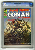 Magazines:Superhero, Savage Sword of Conan #1 (Marvel, 1974) CGC NM 9.4 Off-white towhite pages. Origin and first appearance of Blackmark by Gil...