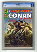 Magazines:Superhero, Savage Sword of Conan #1 (Marvel, 1974) CGC VF/NM 9.0 Off-white towhite pages. Origin and first appearance of Blackmark by ...