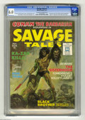 Magazines:Superhero, Savage Tales #1 (Marvel, 1971) CGC FN 6.0 Off-white to white pages.Origin and first appearance of Man-Thing (Gray Morrow ar...