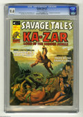 Magazines:Superhero, Savage Tales #11 (Marvel, 1975) CGC NM 9.4 Off-white to whitepages. Frontispiece by Sandy Plunkett. Michael Whelan cover. R...(1 )