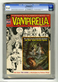 Magazines:Horror, Vampirella #9 (Warren, 1971) CGC NM 9.4 Off-white to white pages. Boris Vallejo and Wally Wood cover. Wood, Barry Windsor-Sm...