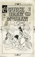 Original Comic Art:Covers, Ray Dirgo - Quick Draw McGraw #3 Cover Original Art (Charlton,1971). You can lead a horse to a peace pipe, but you can't ma...