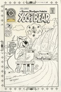 Original Comic Art:Covers, Ray Dirgo - Yogi Bear #24 Cover Original Art (Charlton, 1975). Yogi Bear's Instant Car Wash is a hit with the tourists in Je...